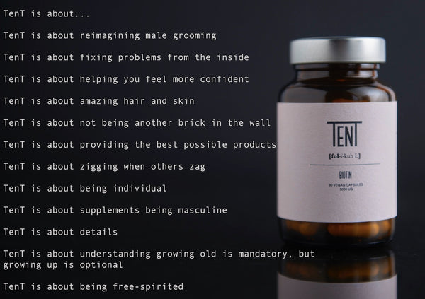Tent Nutrition Mens hair loss prevention supplement