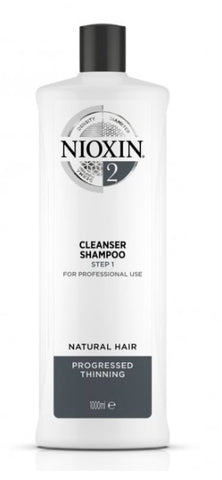 Nioxin 3D Care System System 2 Step 1 Cleanser Shampoo: For Natural Hair With Progressed Thinning 1000ml