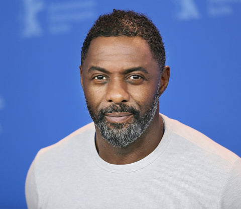 Idris Elba beard - mens grooming - best looking male celebrities - grey beard
