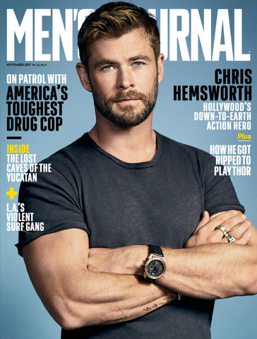 Men Journal - Chris Hemsworth - tent nutrition