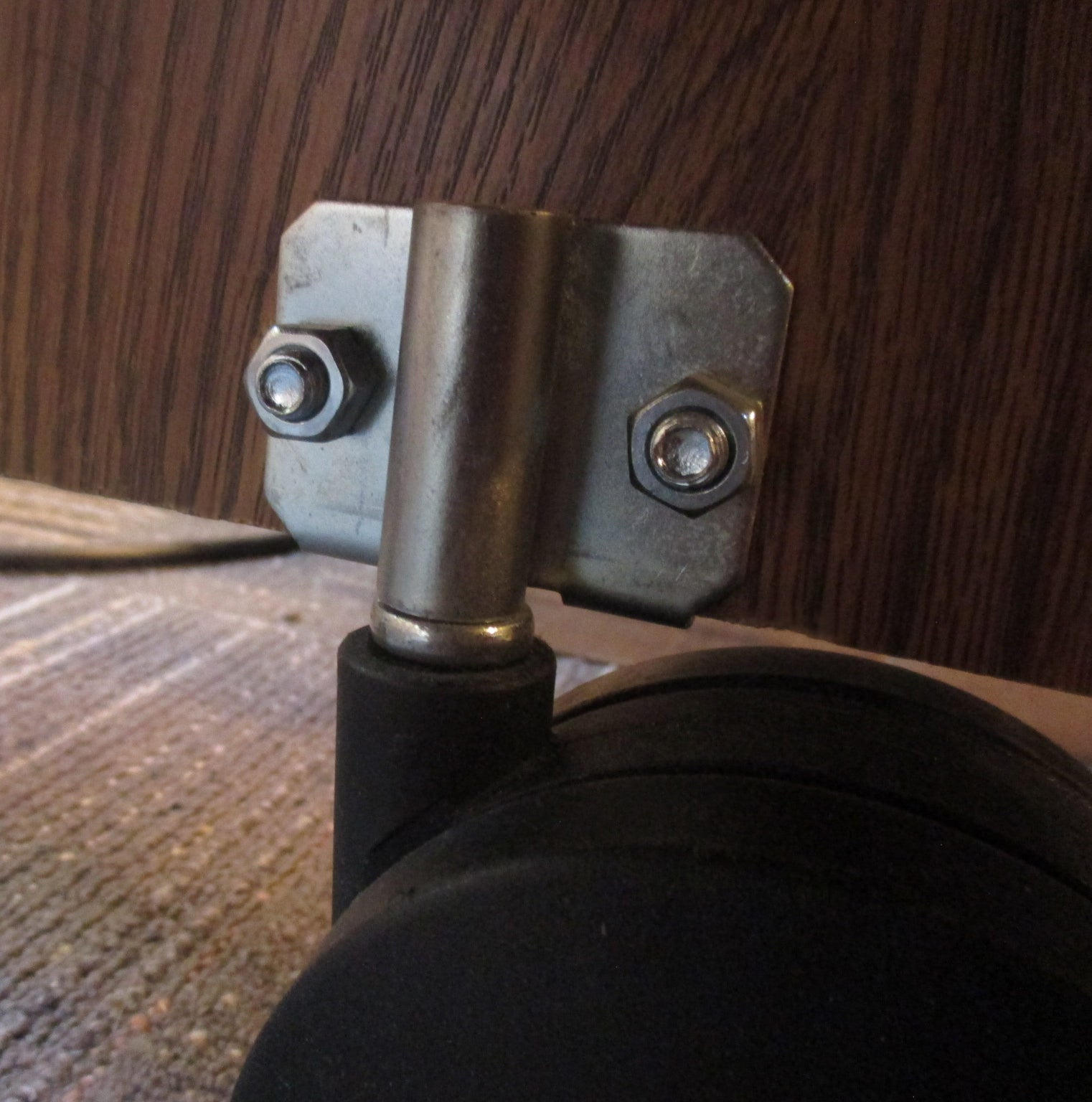 Side Caster Socket For Desks and Other Furniture