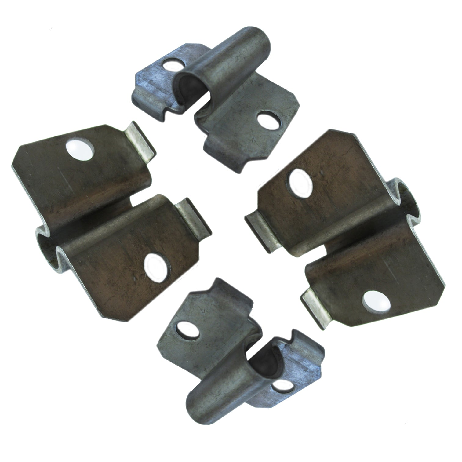 Photo shows a set of four Side Caster Sockets for desks and other furniture.