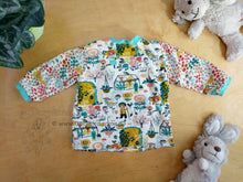 Load image into Gallery viewer, Easy On Baby Top -Baby Garden Shirt -6 mos Baby Outfit -Floral Baby Outfit -Anne of Green Gables- baby shower gift -plants nature knit top