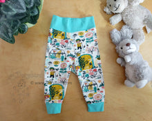 Load image into Gallery viewer, Secret Garden Baby Pants -6 months Baby Outfit -knit cotton Cloth Diaper Pants -Anne of Green Gables- baby shower gift -floral kid knit pants, Dorybird