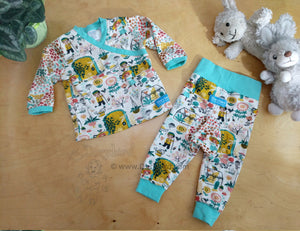Secret Garden Baby Pants -6 months Baby Outfit -knit cotton Cloth Diaper Pants -Anne of Green Gables- baby shower gift -floral kid knit pants, Dorybird