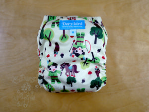 Robin Hood Medium Cloth Diaper (14-26 lbs) -Chickadee Cloth Diapers -all in one -forest fairy tale -green apple horse woodland tree kawaii -made in USA -bamboo hemp