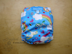 Unicorns and Rainbows Cloth Diaper -Medium (14-26 lbs) -cloth nappy -all in one -sunny blue sky ponies diaper -blue sky bees -rainbow baby
