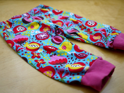 Fruit Salad Baby Pants -12 months Floral Baby Pants -pomegranate toddler pant -cloth diaper pants -1st birthday outfit -rainbow baby bloomer, Dorybird
