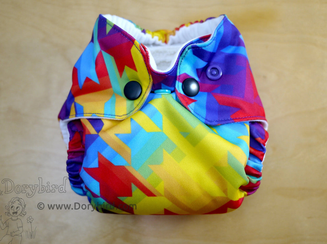 newborn cloth diaper, rainbow baby, Chickadee cloth diapers, newborn AIO, bamboo hemp all in one, WAHM newborn modern cloth, made in USA, Dorybird