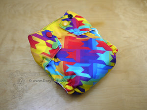 Chickadee Cloth Diapers, Rainbow cloth diaper size Small, easy to use WAHM cloth diaper AIO, Dorybird made in USA