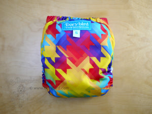 Rainbow Cloth Diaper -Chickadee Small (10-17 lbs) -Rainbow Stars Rainbow Stripes -Made in USA -easy to use all in one AIO diaper- cloth nappy -rainbow baby -bamboo hemp