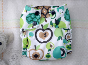 Chickadee cloth diapers, WAHM bamboo hemp all in one, made in USA cloth diaper, sized small