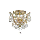Asfour Crystal - Maria Theresa Chandelier - 4 Bulbs - Gold - Ball & Octagon Clear