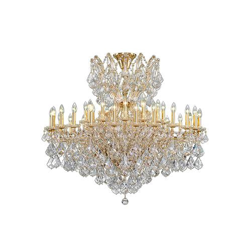 Asfour Crystal - Maria Theresa Chandelier - 36 Bulbs - Gold - Drop Clear