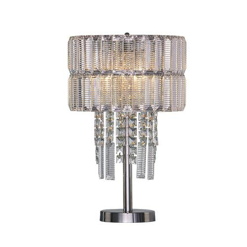 Fashion - 4 Bulbs - Chrome - Pendeloque Clear