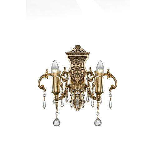 Royal - 2 Bulbs - Gold Oxide - Ball & Octagon Clear