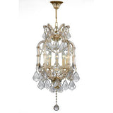Teresa - 5 Bulbs - Gold - Pendeloque Clear