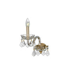 Crystal - 1 Bulb - Gold - Pendeloque Clear