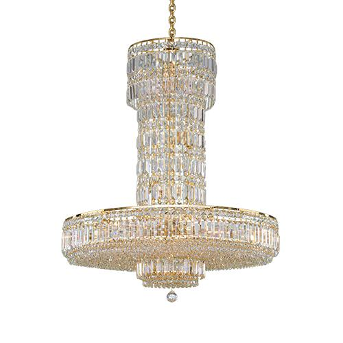 Asfour Crystal - Empire Chandelier - 19 Bulbs - Gold - Ball Clear