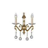 Majestic - 2 Bulbs - Gold - Ball & Octagon Clear