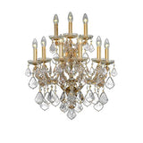 Teresa - 9 Bulbs - Gold - Pendeloque Clear