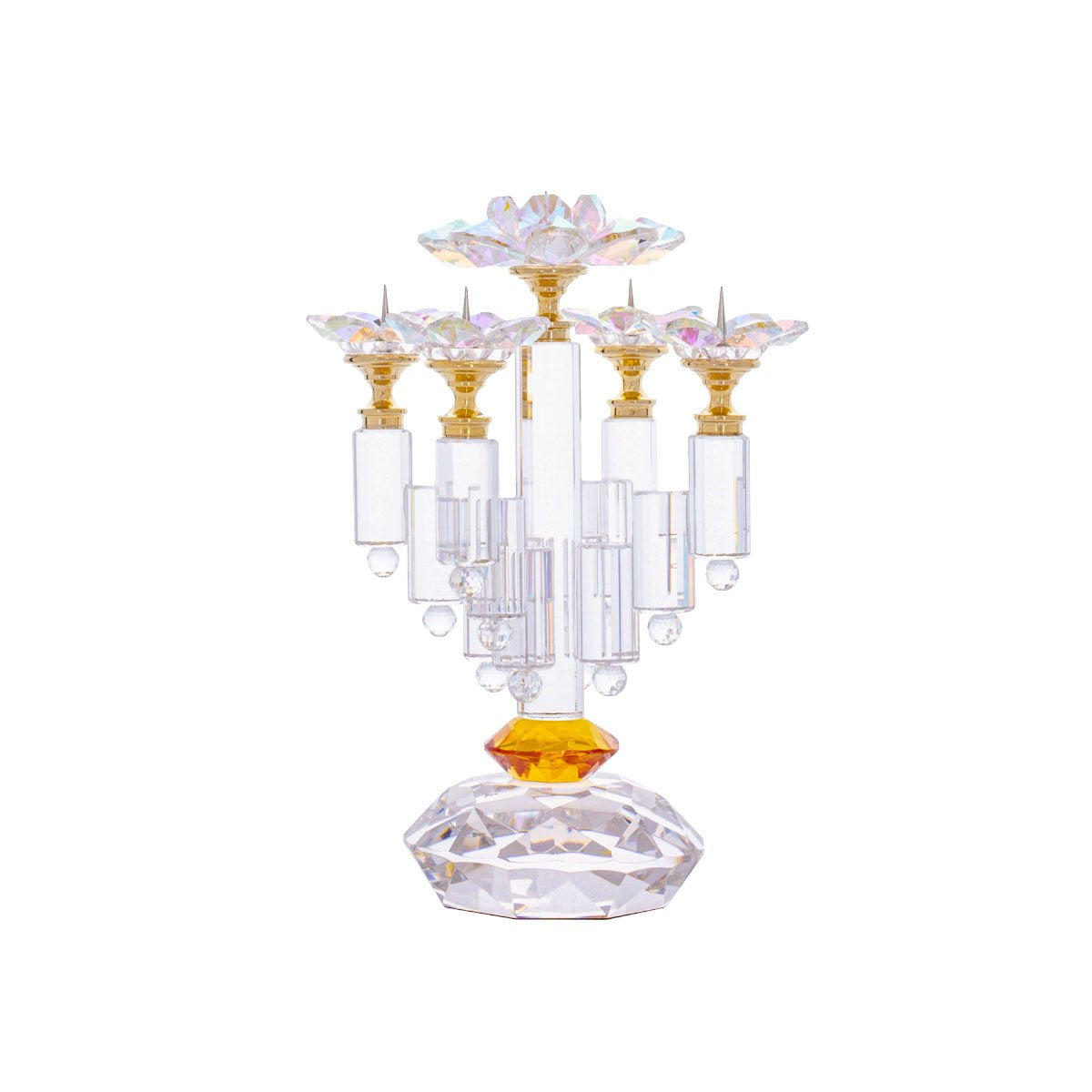 Crystal Candlestick - GOLD - AB