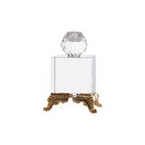 Candlestick - clear -Gold Plated - Medium