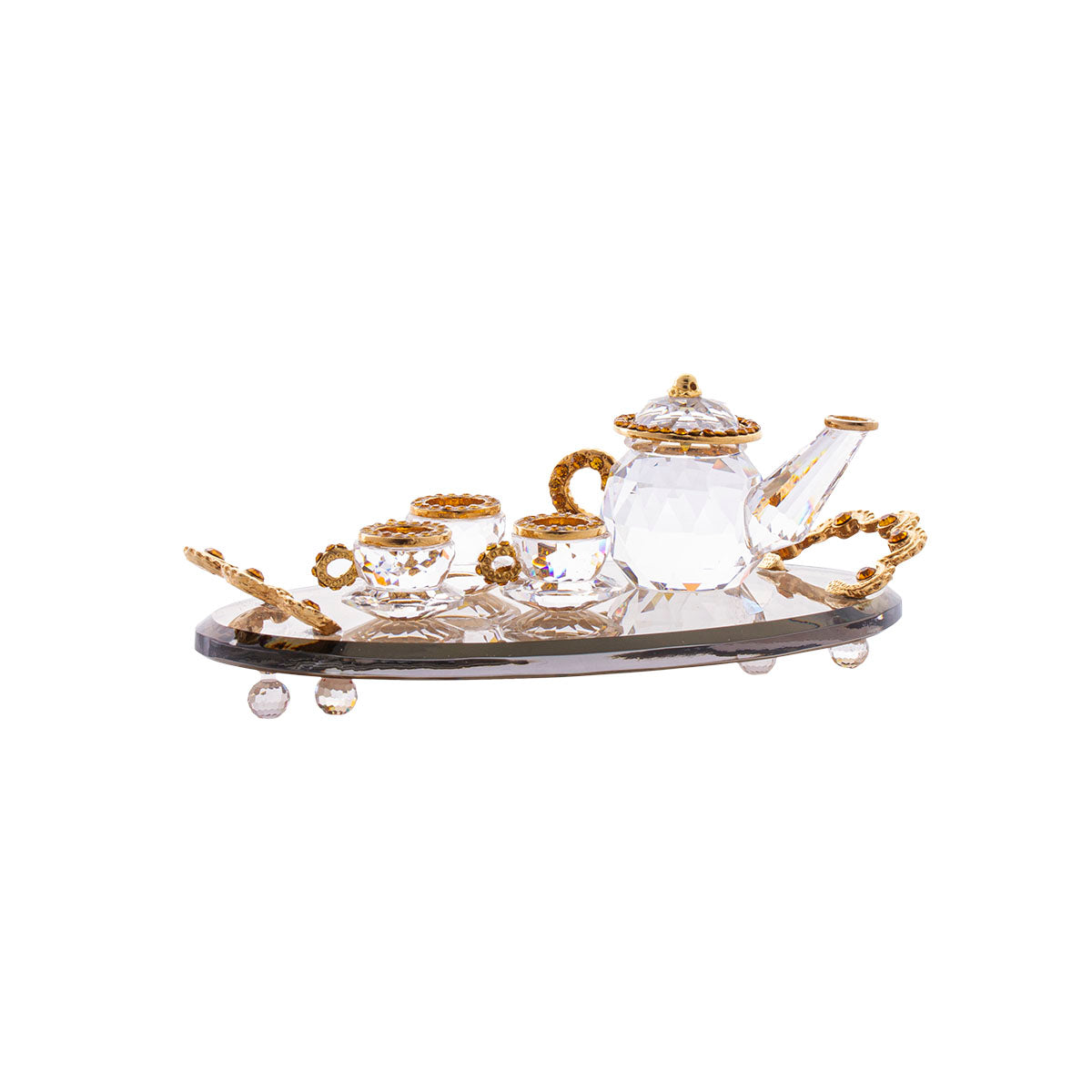 Tea Set - Cleat - Gold Plated - tray