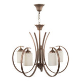 TIARA - 5 Bulbs - Brown Antique Matt
