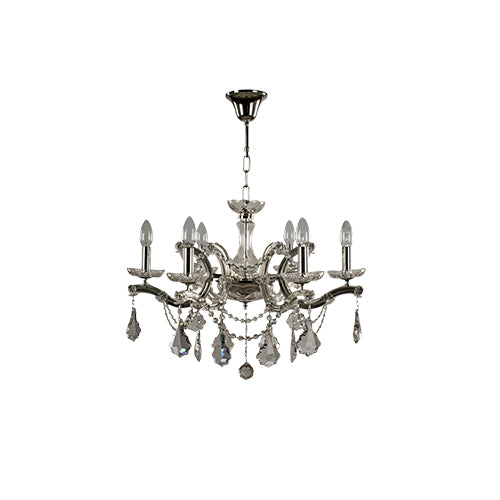 TIARA - 6 Bulbs - Chandelier Chrome - Chrome