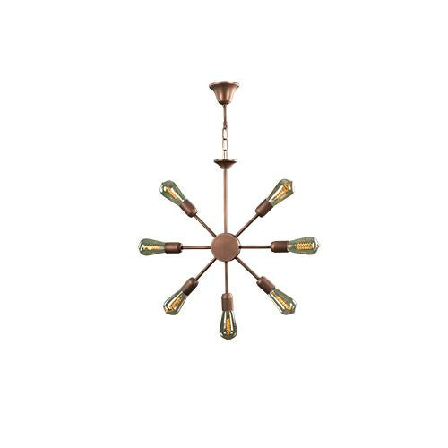 TIARA - 7 Bulbs - Brown antique