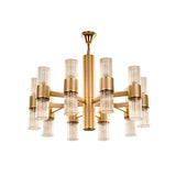 TIARA Chandelier - 20 Bulbs - Gold Matt