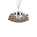 Tiara - Ceiling Lamp - 5 Bulbs - honey transparent pins - Chrome
