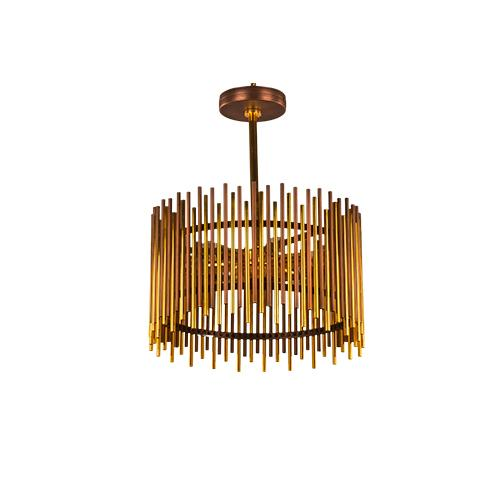 TIARA - 3 Bulbs - Gold & Brown Antique