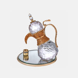Dallah (Arabic coffee jug) - Clear - Gold Plated