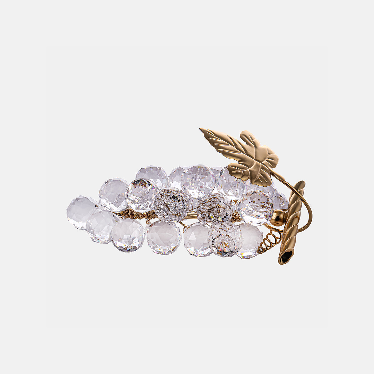 Grapes - Clear - Gold Plated - Small