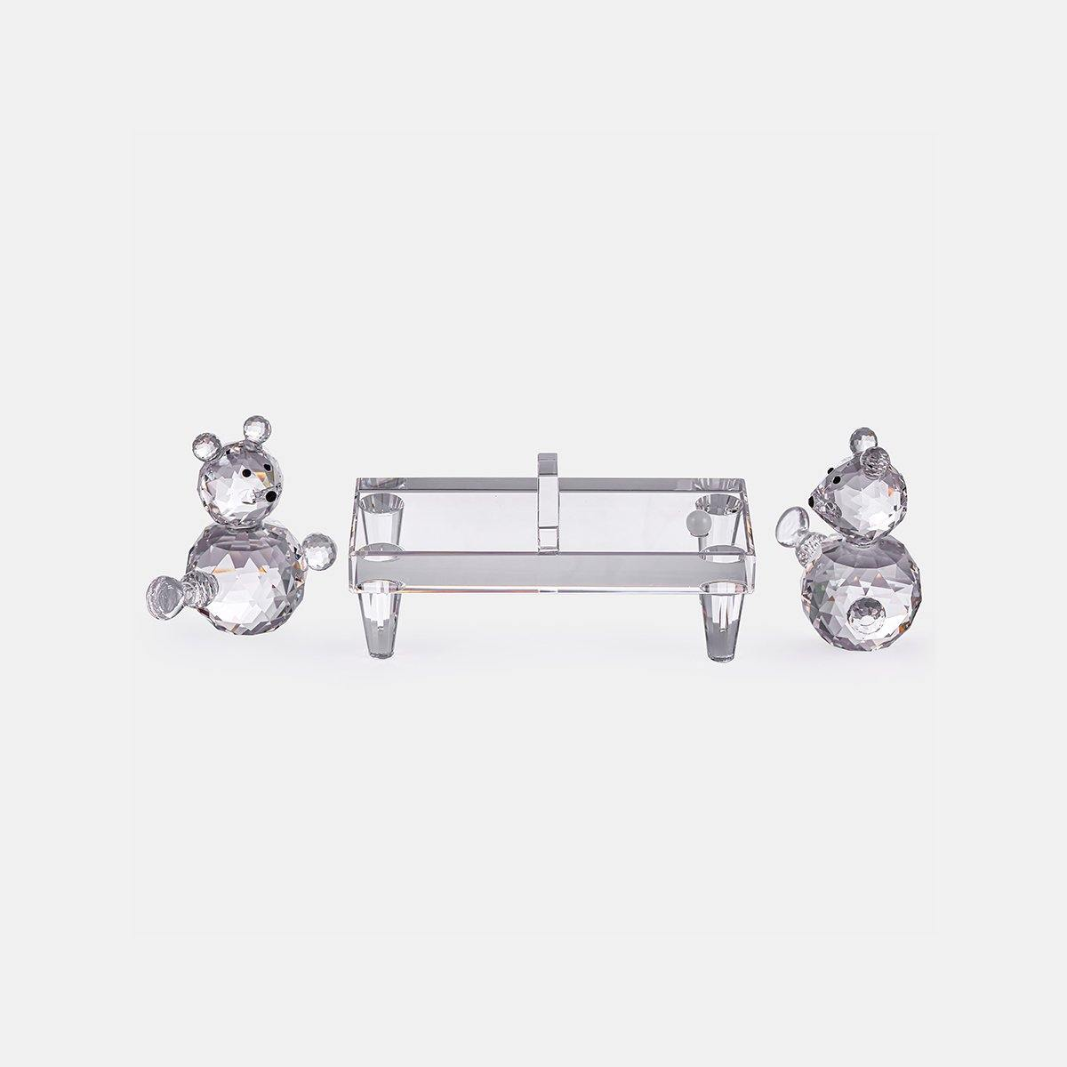 2 Bears - Clear - Playing Tennis Table
