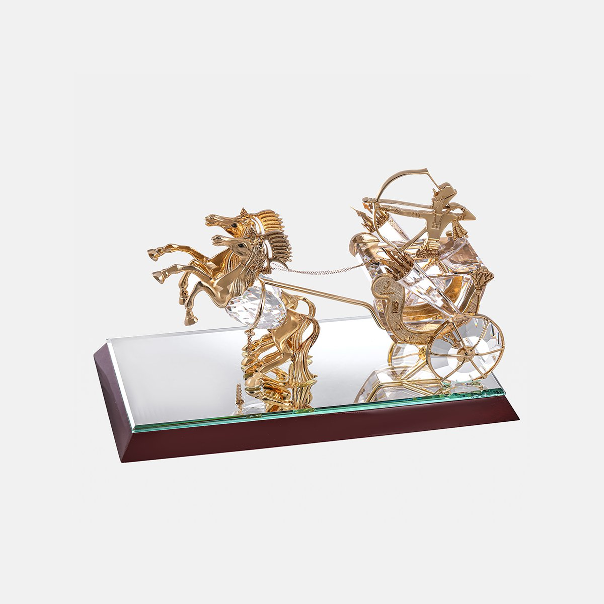 Pharaonic Chariot - Clear - Gold Plated - Large