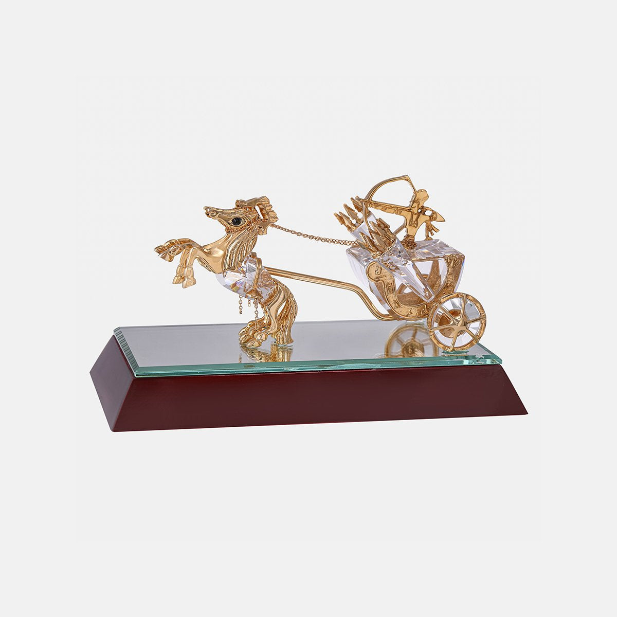 Pharaonic Chariot - Clear - Gold Plated - Medium