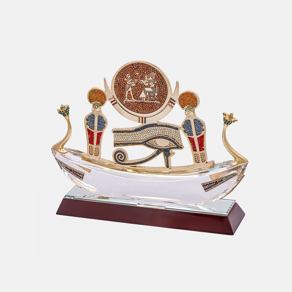Pharaonic Boat - Clear - Horus Eye