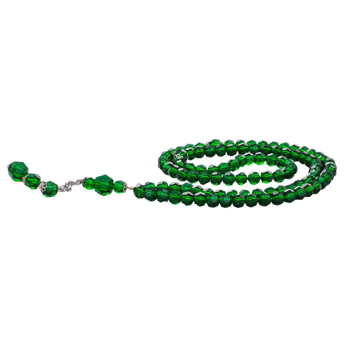Rosary - Green Radium  - Small Beads