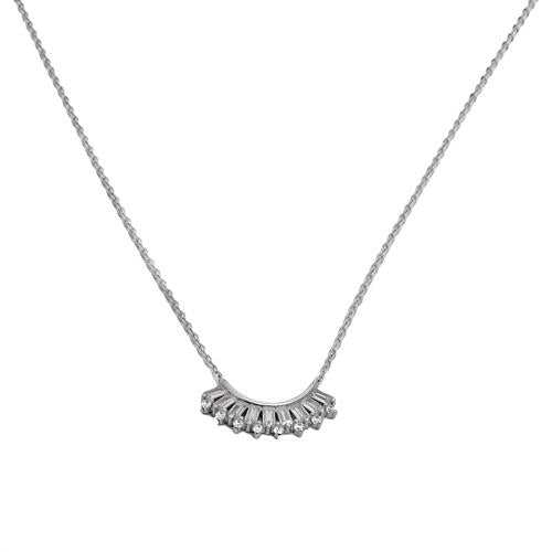 Necklace N1082 - 925 Sterling Silver - quadrant