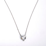 N3006-A Necklace - 925 Sterling Silver - Crystal heart