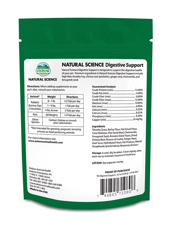 Oxbow Natural Science Digestive Support 120gram