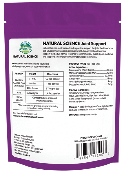 Oxbow Natural Science Joint Support 120gram