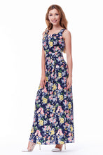 Load image into Gallery viewer, Blue Floral Summer Dress
