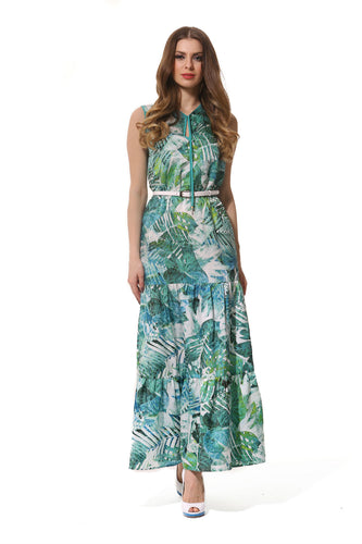 Long Green Forest Dress