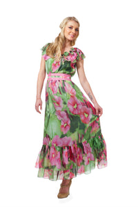 Gypsy Pink & Green Dress