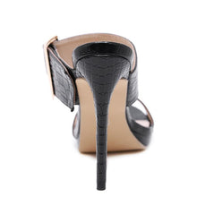 Load image into Gallery viewer, Black High Heel Sandals