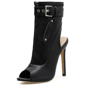 Peep Toe Lady Chelsea Booties
